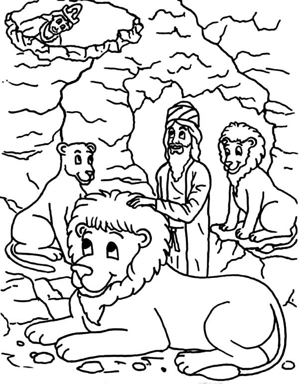600x781 Daniel And The Lions Den Coloring Page
