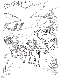 200x259 Fuli The Lion Guard Coloring Page