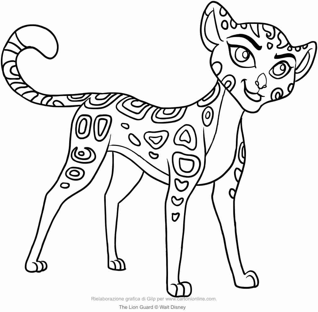 1011x992 Fuli The Lion Guard Coloring Page Outstanding Pages Olegratiy