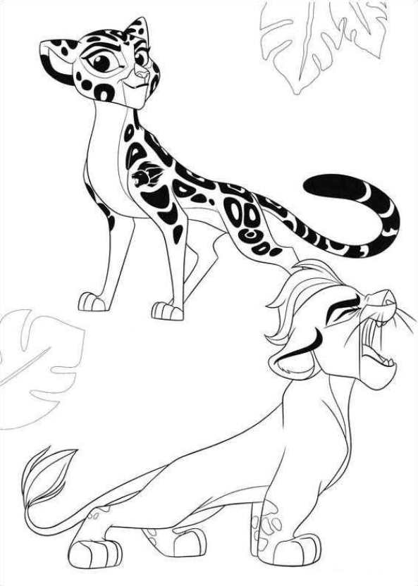 593x832 Kids N Coloring Pages Of Lion Guard