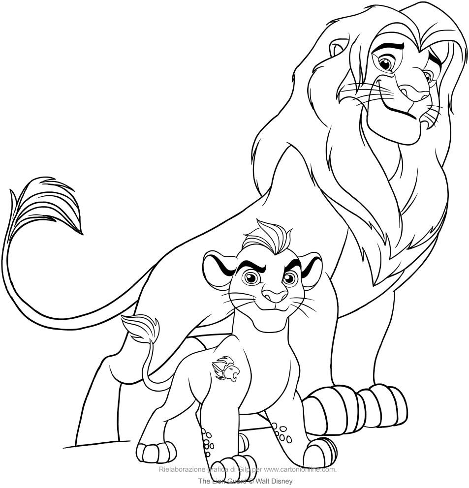 953x992 Kion Simba Lion Guard Coloring Pages