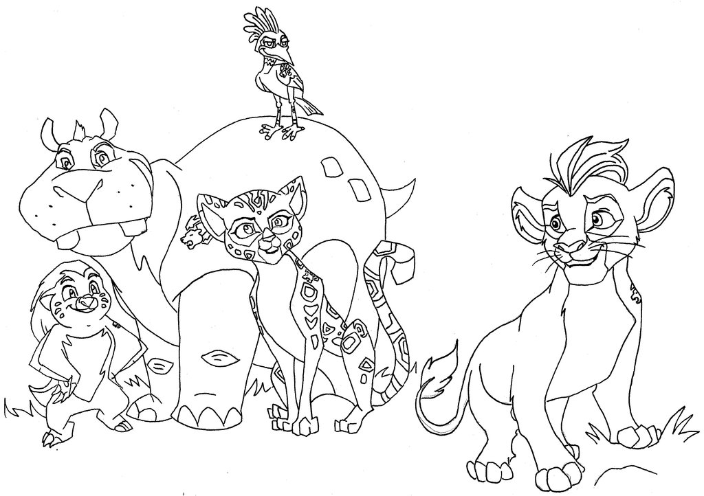 1024x722 Fuli Coloring Page The Lion Guard Coloring Pages Getcoloringpages