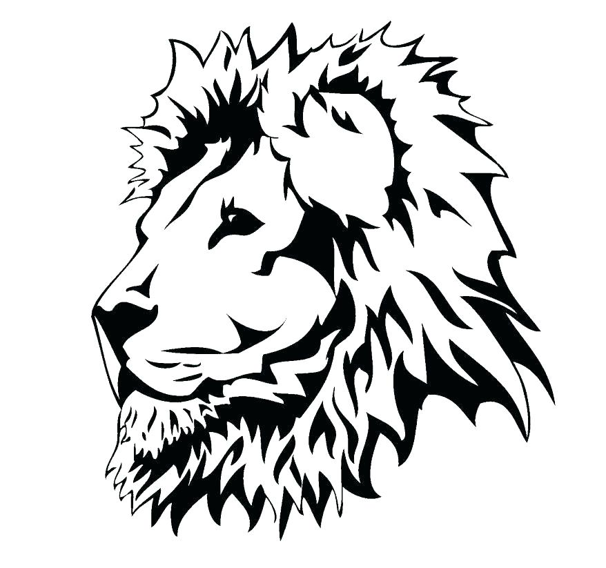 878x823 Lion Head Coloring Pages For Adults Between The Lions Click To See