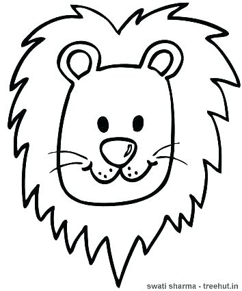 354x425 Lion Head Coloring Pages Inspirational Lion Face Coloring Page