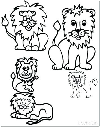 354x447 Coloring Pages Of A Lion