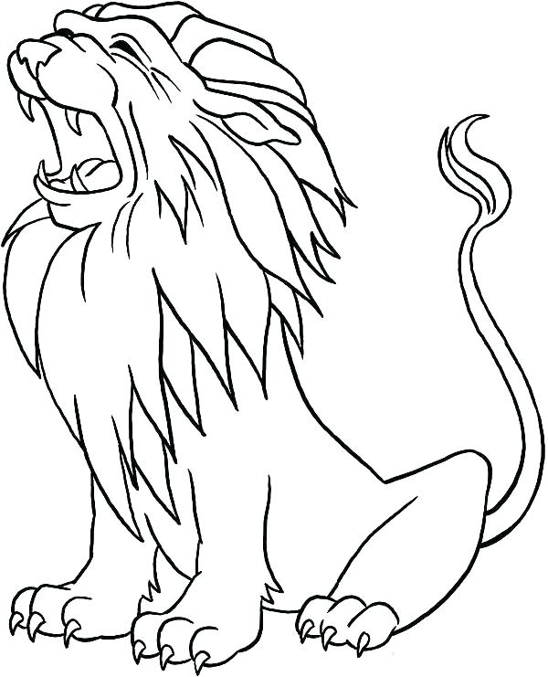 600x741 Coloring Page Lion Real Lion Coloring Pages Coloring Page Lion