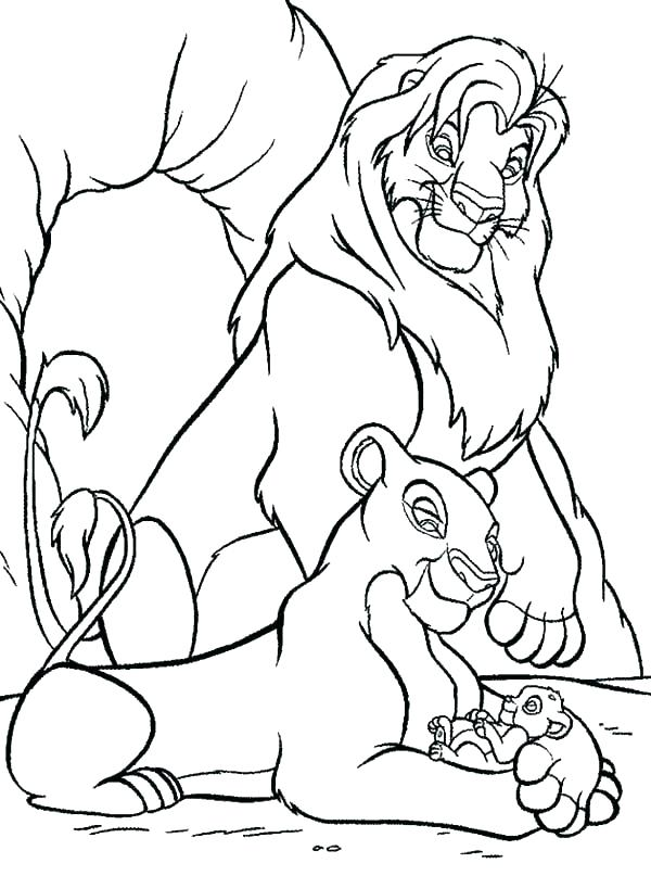 600x807 Coloring Picture Of A Lion Lion King Coloring Pages Lion King