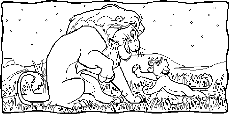 Lion King Coloring Pages Online