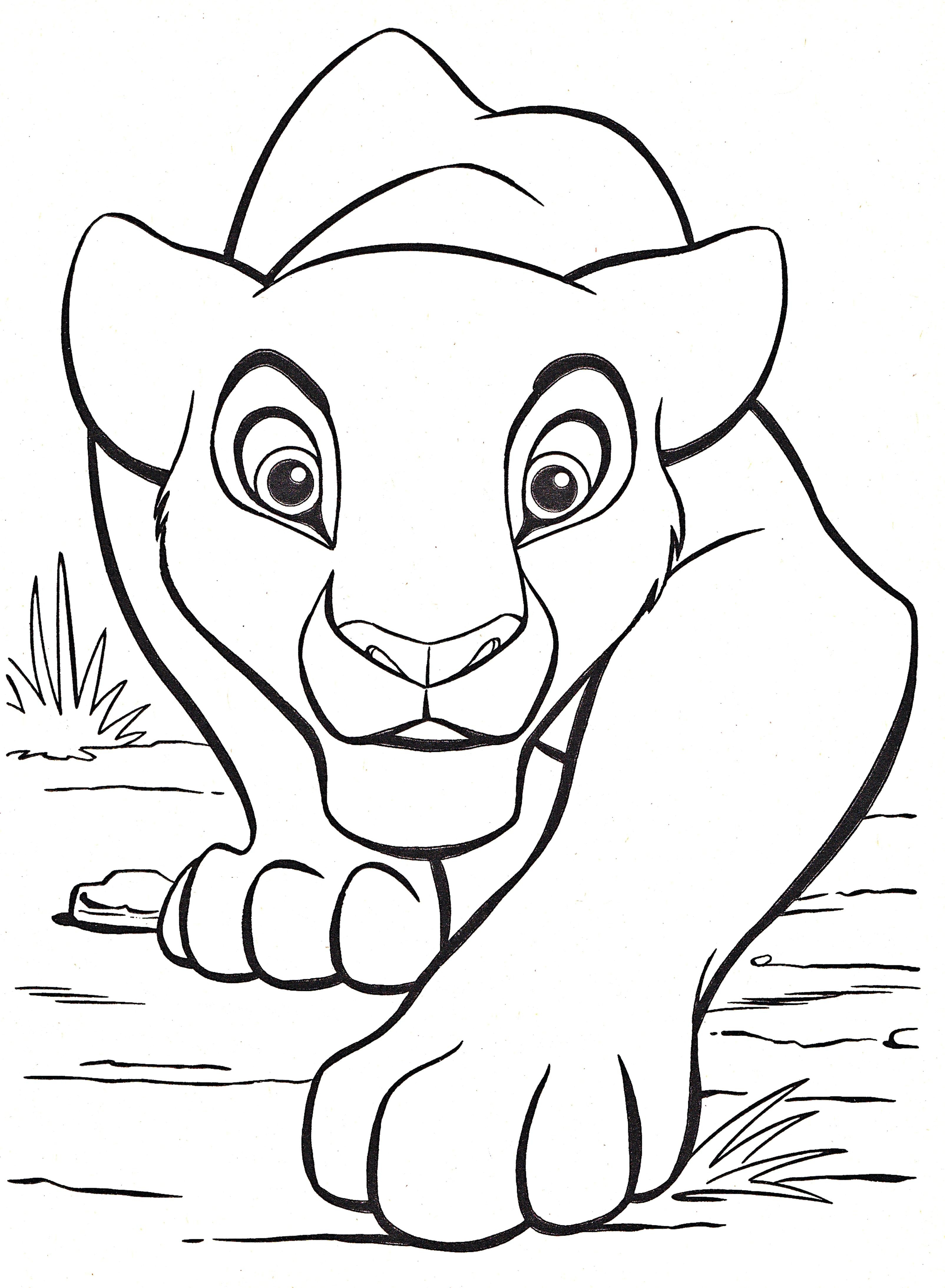 Lion King Coloring Pages Kovu at