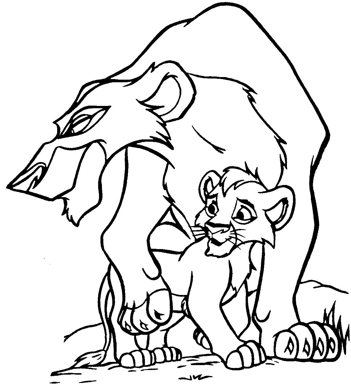 1216x1334 Lion King Coloring Pages Kovu Zira