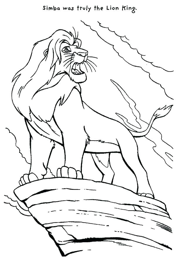 600x891 Lion King Coloring Pages The Lion King Coloring Pages Packed