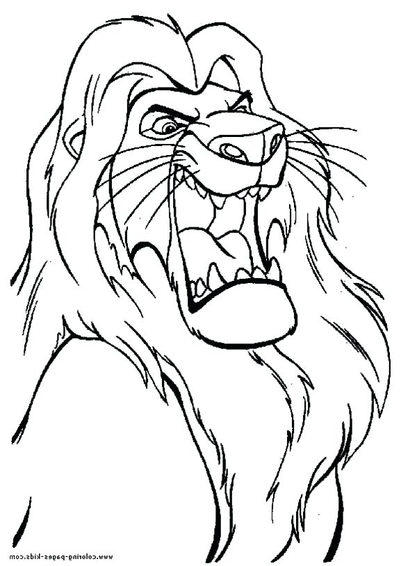 600x814 The Great Lion King Coloring Page Download Print Kovu Pages