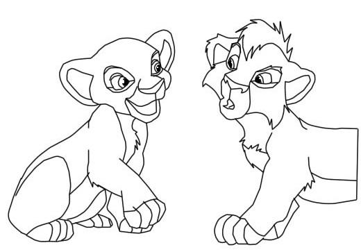 520x363 Lion King Coloring Pages Kovu Lion King Coloring Pages Kiara