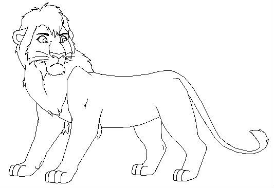 533x366 Kovu Intrepid Lion King Coloring Pages Kids Net