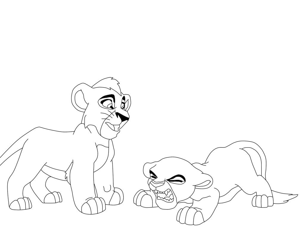 1024x768 Lion King Coloring Pages Kiara And Kovu To Print Coloring Book
