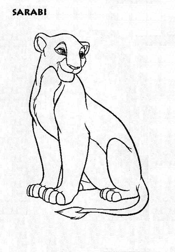 Lion King Coloring Pages Nala_