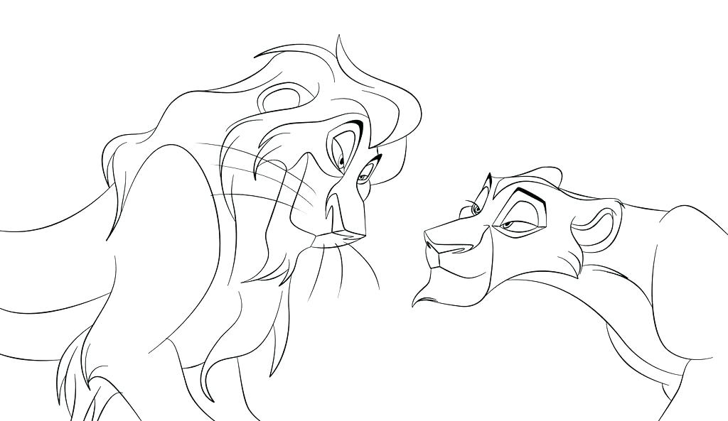 1024x593 Lion King Coloring Pages Simba And Nala Page