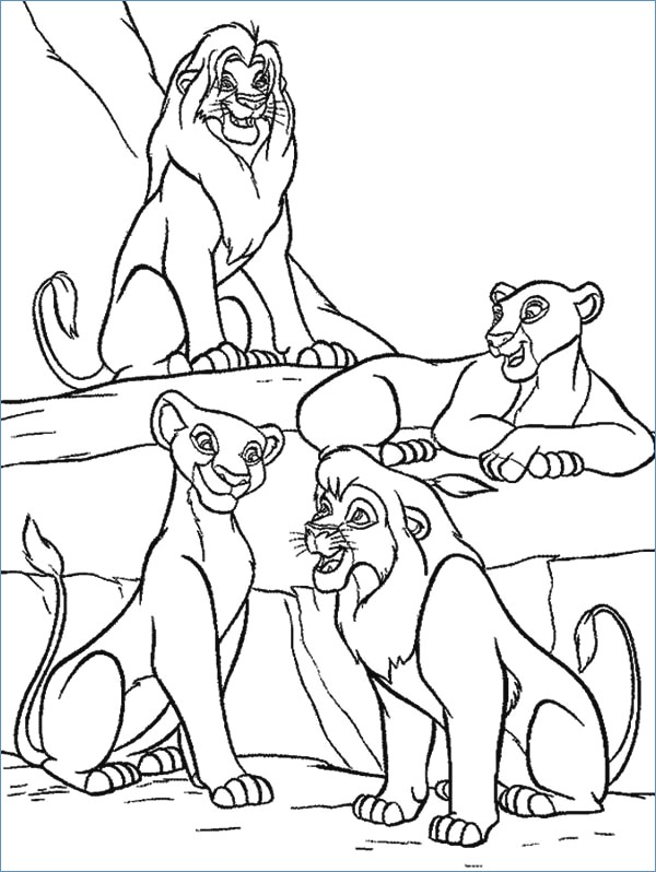 600x798 Young Simba The Lion King Coloring Page