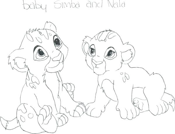 600x461 Baby Nala Coloring Pages Nala Coloring Pages Lion King Printable