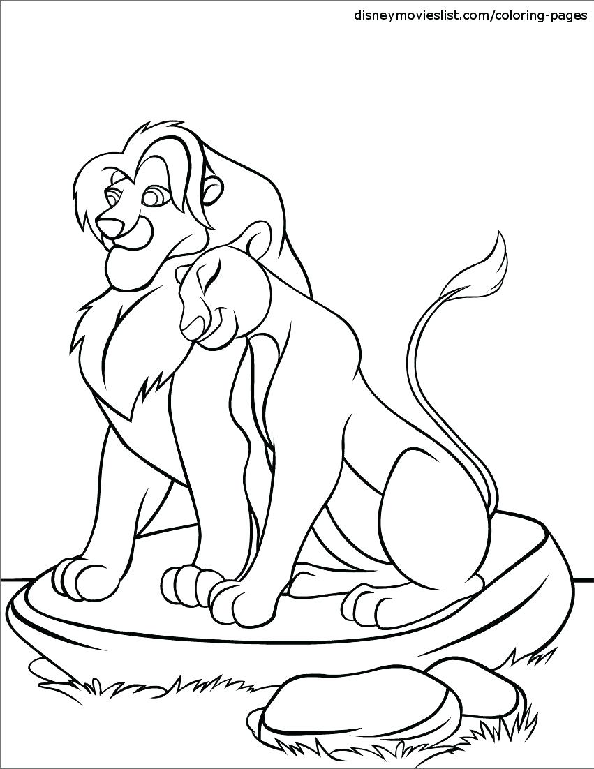 Lion King Mufasa Coloring Pages At Getdrawings Com Free For