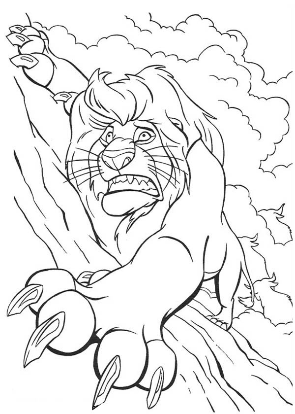 600x840 Lion King Falling Mufasa Free Coloring Page Animals, Disney