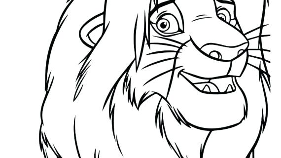 570x320 Lion King Simba Coloring Pages Lion King Drawing Lion King Simba