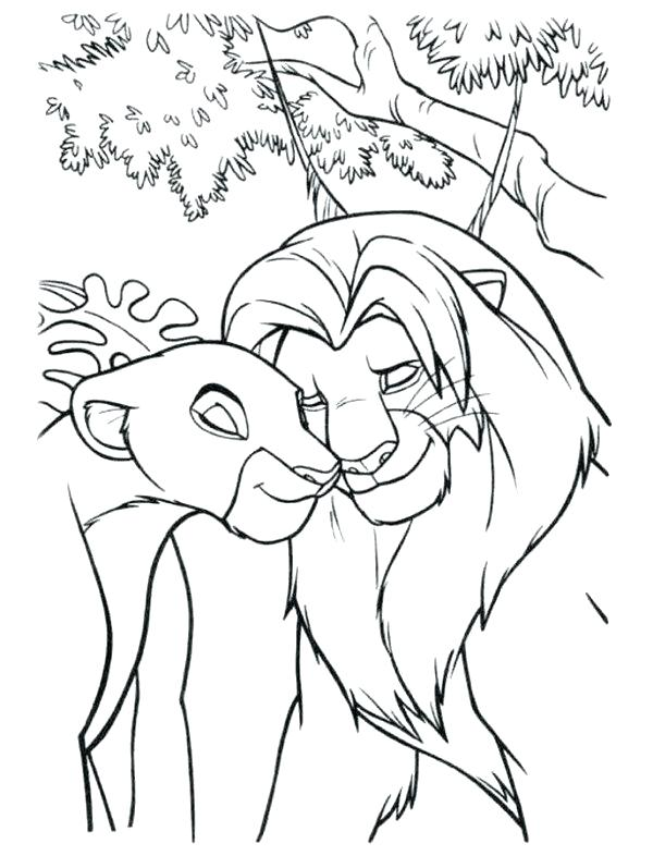 600x786 Nala Coloring Pages Coloring Pages And In Love The Lion King