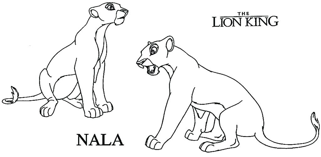 1024x502 Nala Coloring Pages Nala Coloring Pages Lion King Coloring Pages