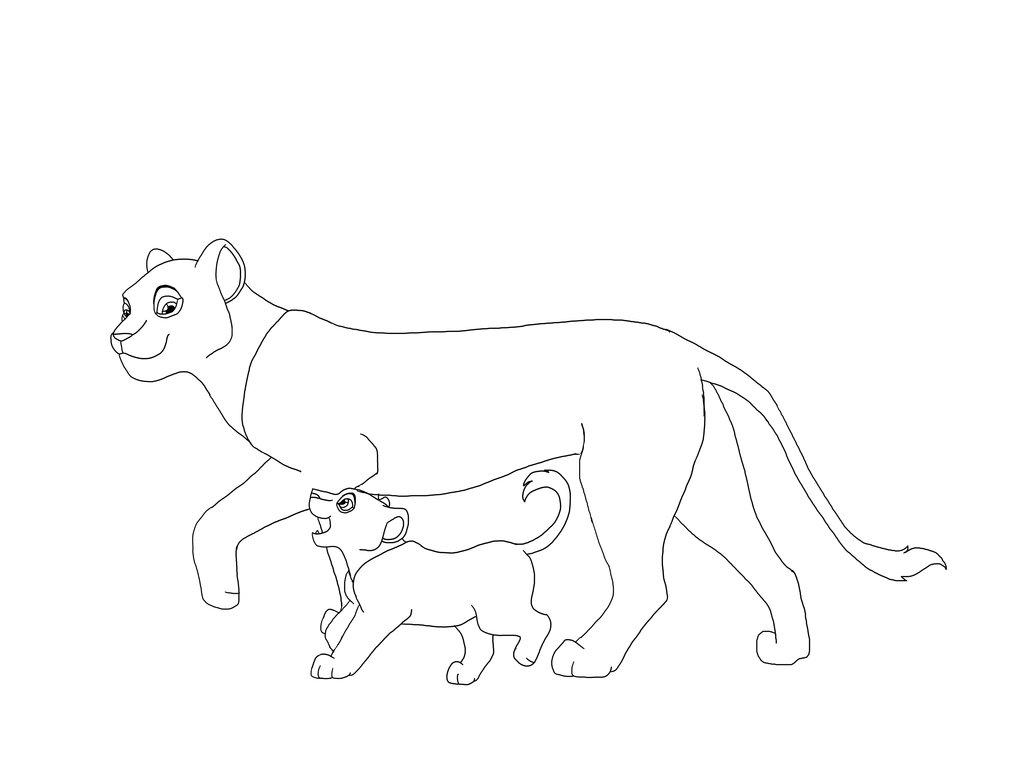 1024x768 Nala Lion King Coloring Pages Classic Style Online Lion King