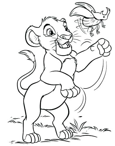 393x500 Simba And Nala Coloring Pages Coloring Pages Medium Size