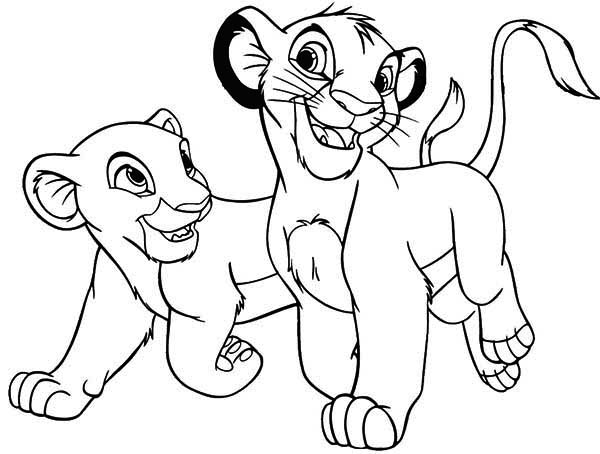 600x454 The Lion King Simba And His Girlfriend Coloring Page Download