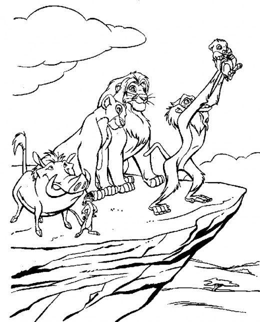 520x644 Lion King Printable Coloring Pages El Rey Leon, Dibujos Para