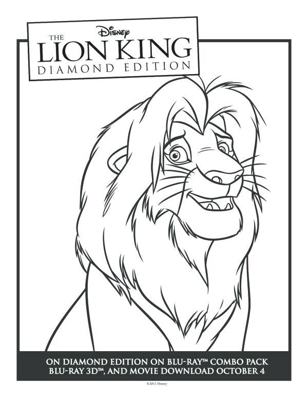 600x776 Simba Coloring Page Lion King Printable Coloring Sheet Disney