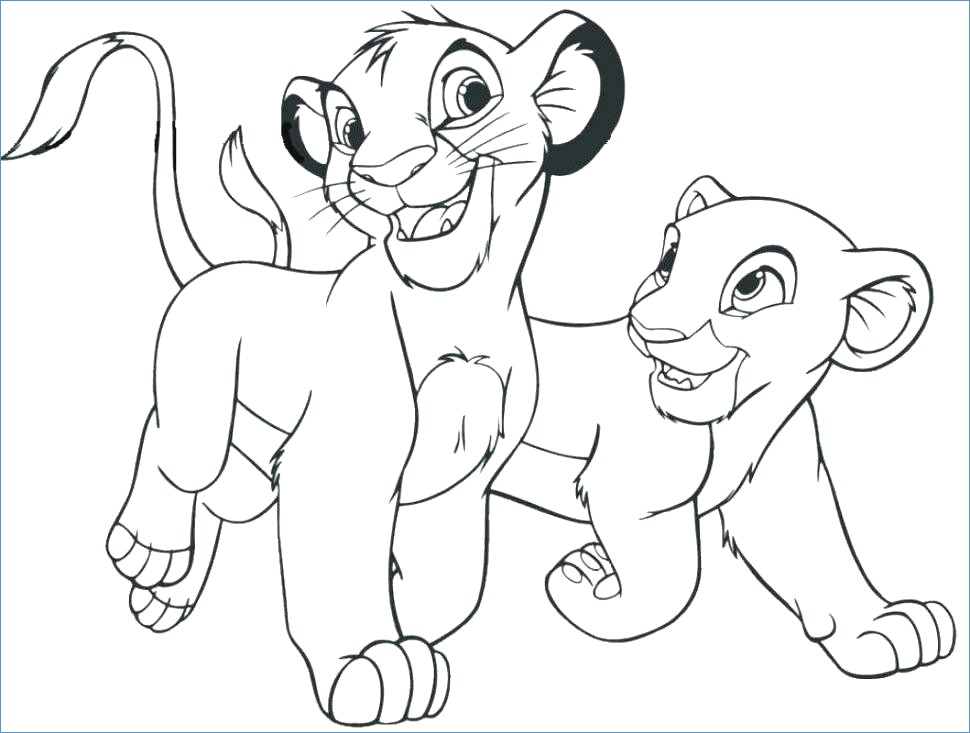 970x733 Young Simba The Lion King Coloring Page