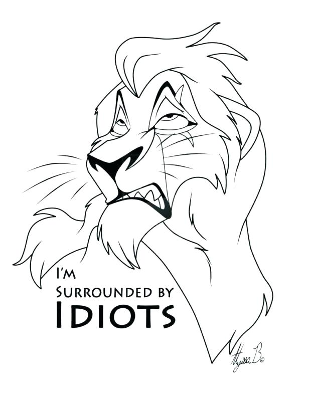 Lion King Scar Coloring Pages at GetDrawings.com | Free for personal ...