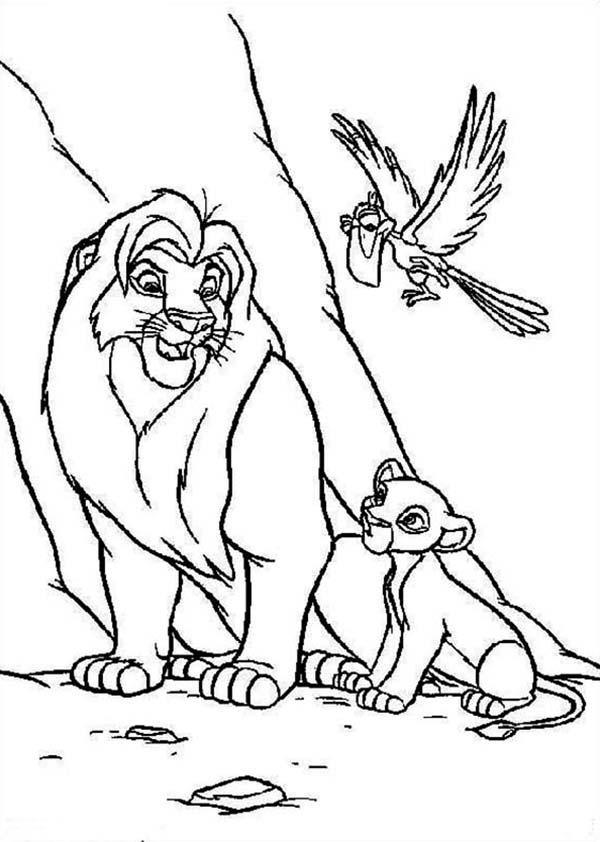600x842 Simba, Mufasa And Zazu The Lion King Coloring Page