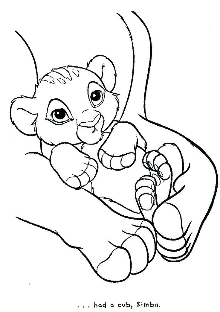 736x1043 Simba Coloring Page Coloring Pages Free Baby A Lion King And Loved