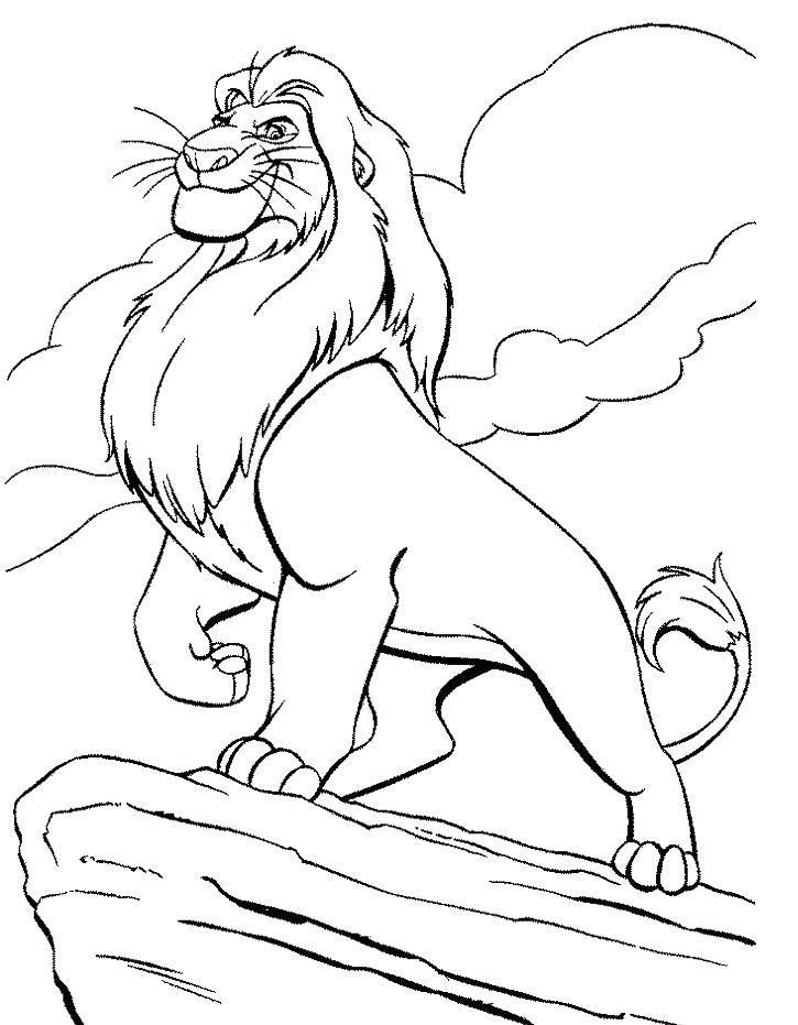 725x931 Coloring Lion King Simba Coloring Pages Page Nala Lion King