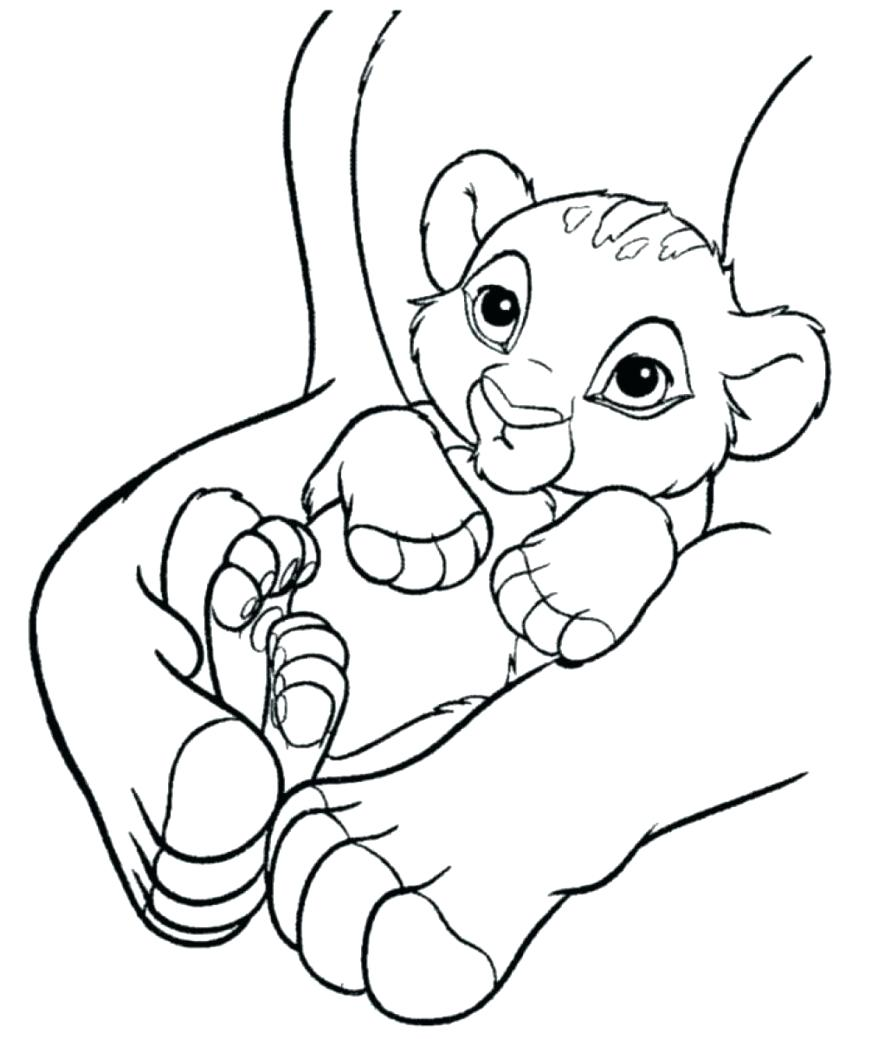 878x1039 Coloring Pages Simba Coloring Pages Baby In Hands A Lion King