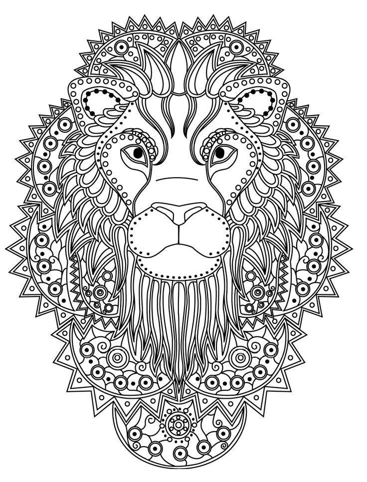 Lion Mandala Coloring Pages