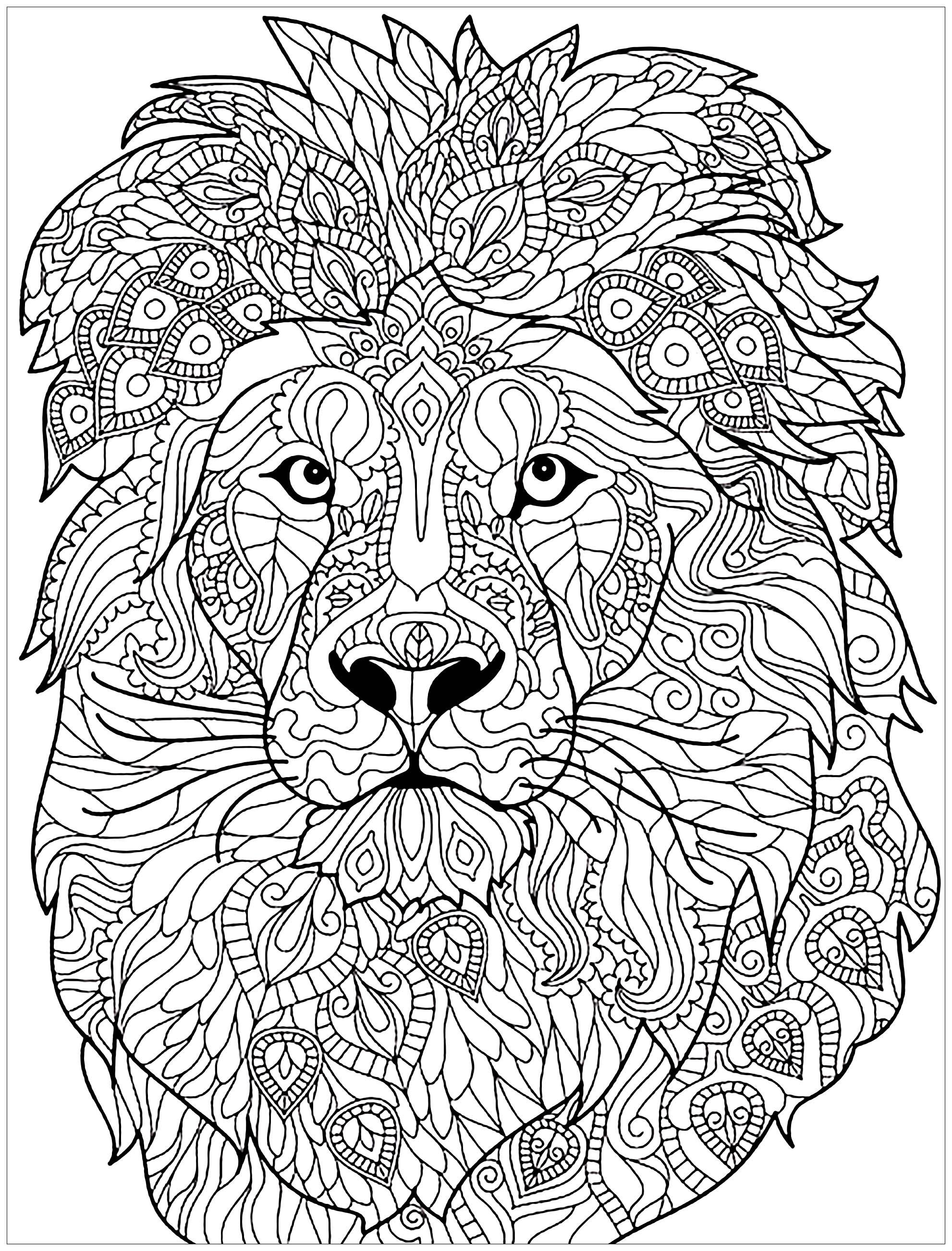Lion Mandala Coloring Pages at GetDrawings | Free download