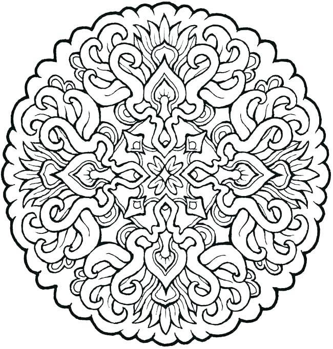 Lion Mandala Coloring Pages At Getdrawings Com Free For