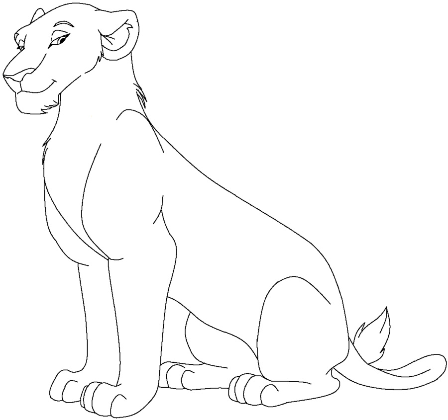 900x845 Lioness Coloring Pages