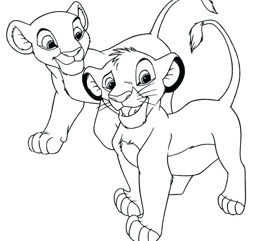 848x800 Coloring Pages Lion