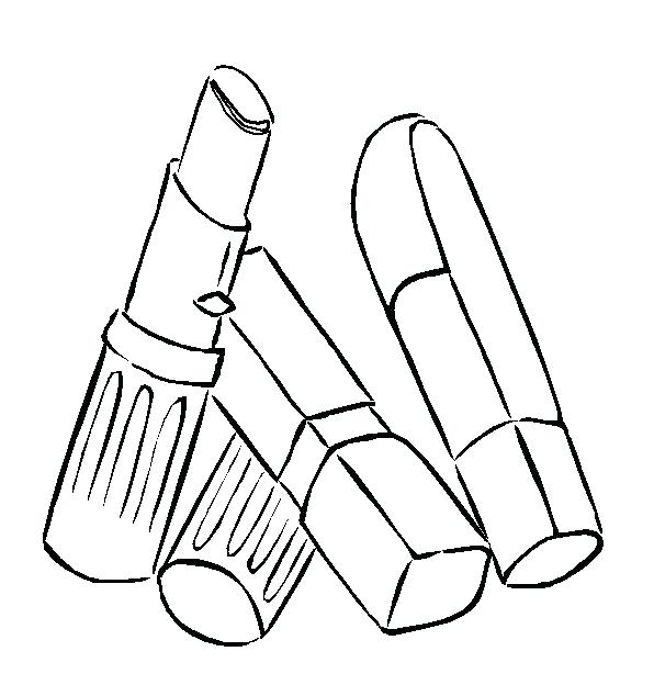 596x624 Lipstick Coloring Pages Awesome Lippy Lips Shopkins Coloring Page