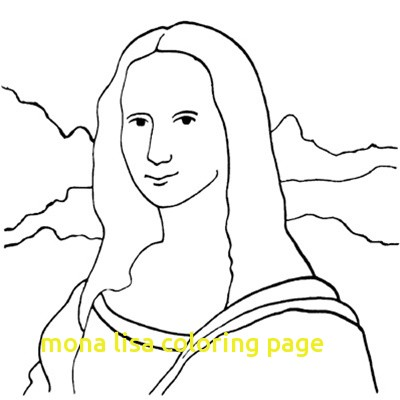 400x400 Mona Lisa Coloring Page With Amazing Mona Lisa Coloring Page