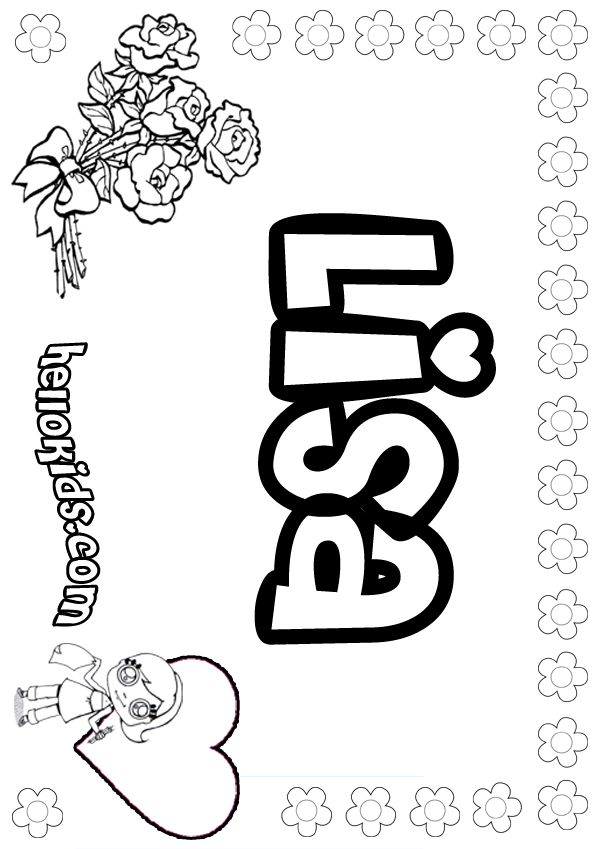 600x849 The Name Lisa Frank Coloring Pages Lisa Coloring Page Projects