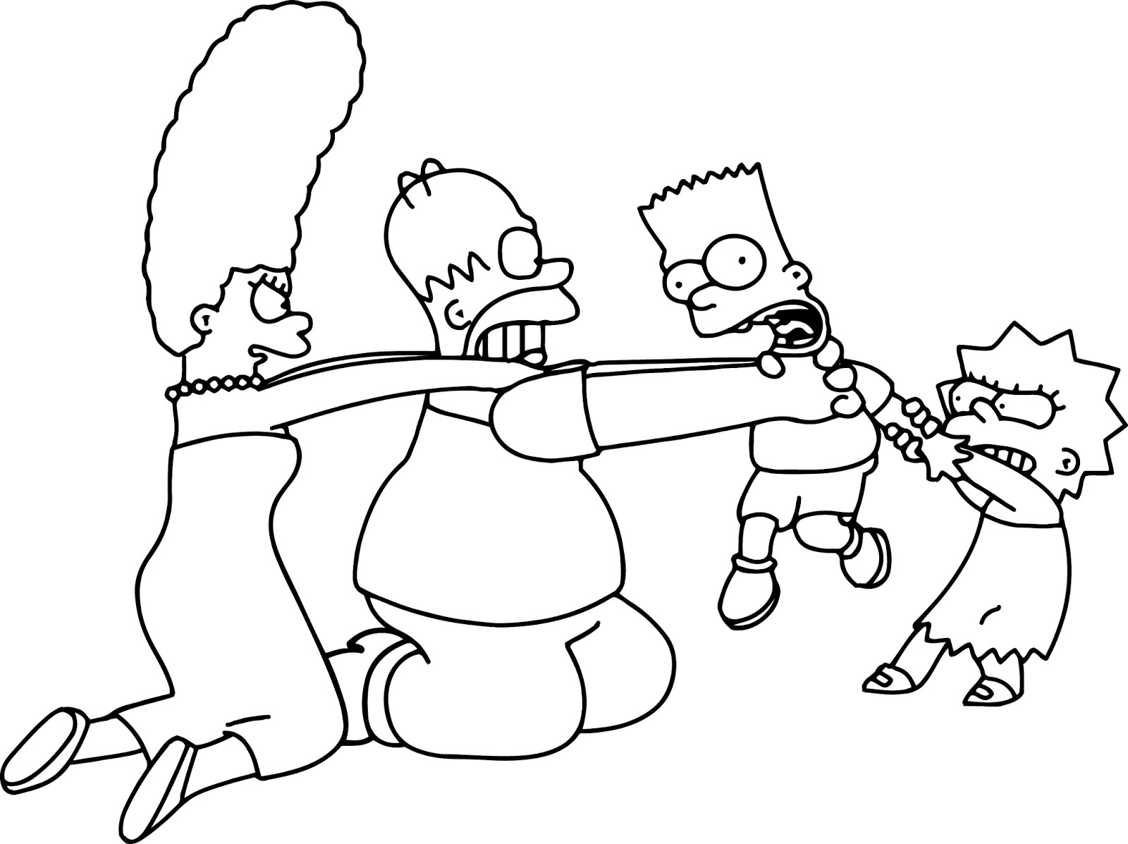 Lisa Simpson Coloring Pages