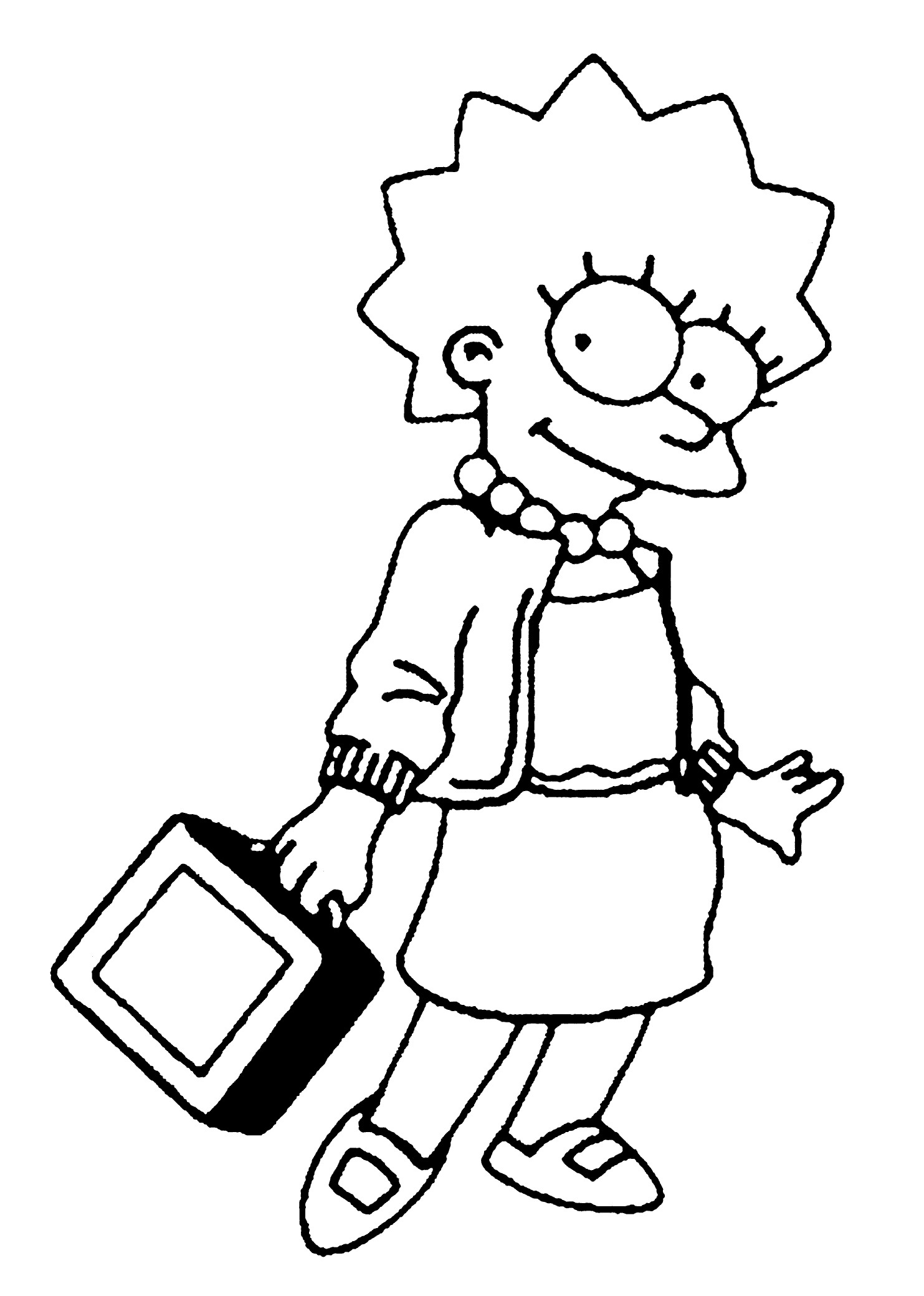 1483x2079 Lisa Simpson Coloring Pages