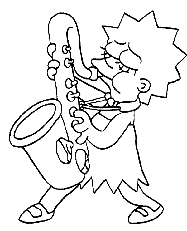 600x740 Lisa Simpson Free Coloring Page To Print Or Download For Free